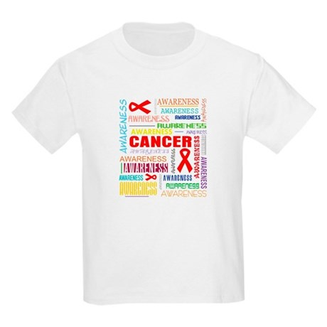 Blood Cancer Awareness Collage Kids Light T-Shirt