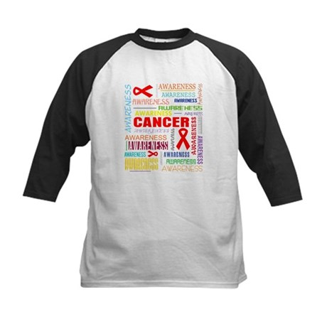 Blood Cancer Awareness Collage Kids Baseball Jerse