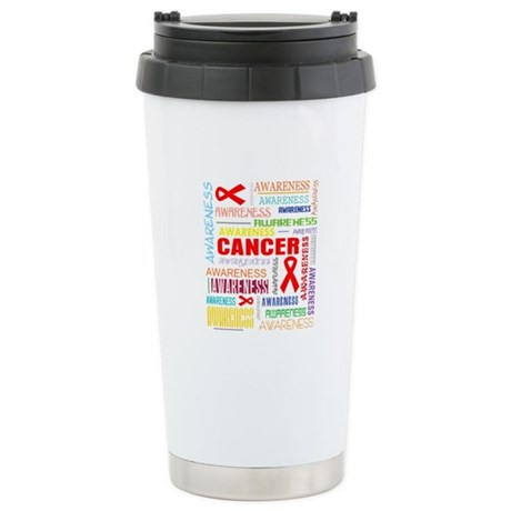 Blood Cancer Awareness Collage Ceramic Travel Mug