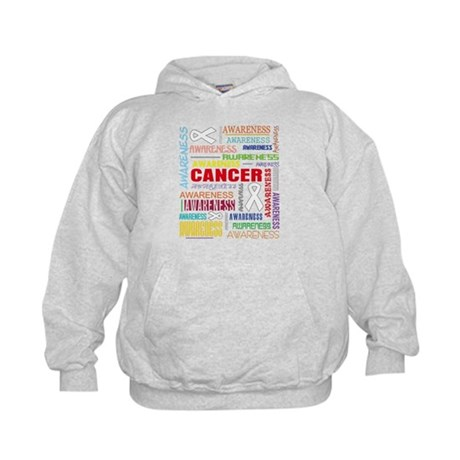 Bone Cancer Awareness Collage Kids Hoodie