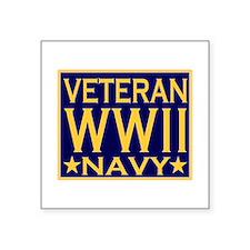 WORLD WAR II VETERAN Rectangle Sticker