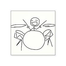 """Drummer Square Sticker 3"""" x 3"""""""