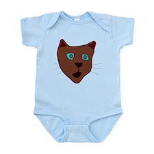 Brown Cat Infant Bodysuit