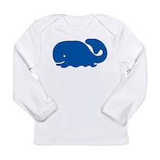 Blue Whale Long Sleeve Infant T-Shirt