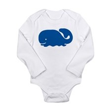 Blue Whale Long Sleeve Infant Bodysuit