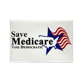 Save Medicare Democratic Rectangle Magnet