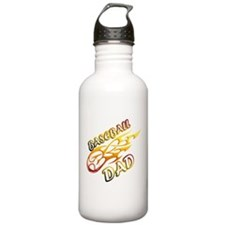 Baseball Dad (flame) copy.png Water Bottle