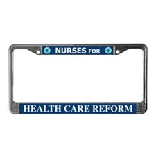 Nurses Health Care Reform License Plate Frame