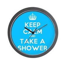 Keep Calm and Take a Shower Wall Clock
