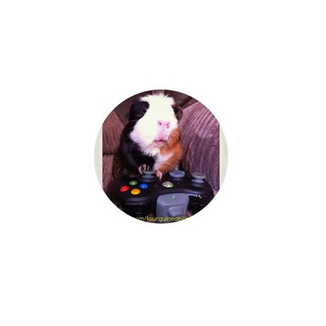 Guinea pig on xbox controller Mini Button (100 pac