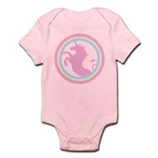 Retro Pink Unicorn Infant Bodysuit