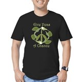 GIVE PEAS A CHANCE Black T-Shirt T-Shirt