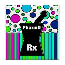 pharmD necklace 4.PNG Tile Coaster