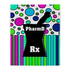 pharmD necklace 3.PNG Throw Blanket