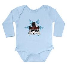 Alaskan Malamute puppy Long Sleeve Infant Bodysuit