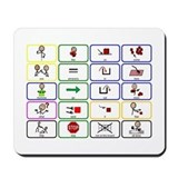20 Core Words Communication Board Mousepad
