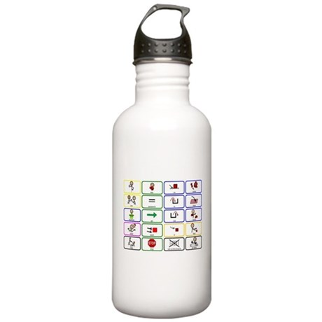 20 Core Words Communication Board Stainless Water