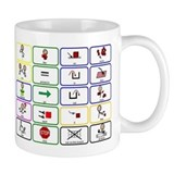 20 Core Words Communication Board Small Mug