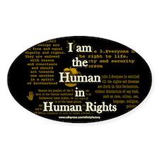 I am Human Rights Oval Sticker (10 pk)