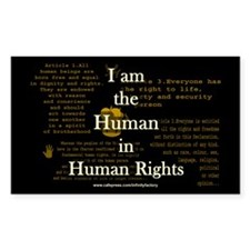 I am Human Rights Rectangle Decal