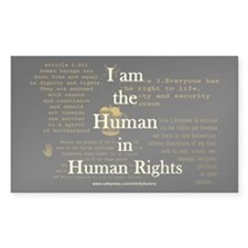 I am Human Rights Rectangle Sticker 50 pk)