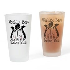 Unique Boston terriers Drinking Glass