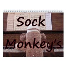 Sock Monkey Wall Calendar