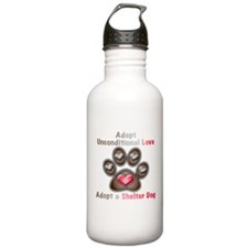 adopt unconditional love Water Bottle