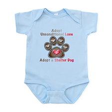 adopt unconditional love Infant Bodysuit