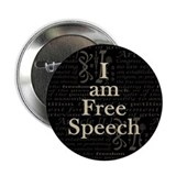 "I am Free Speech Dark 2.25"" Button (100 pack)"