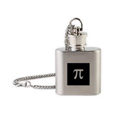 Pi Black Flask Necklace