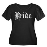 bl_bride.png Women's Plus Size Scoop Neck Dark T-S