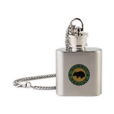Wombat Rescue Crest II Flask Necklace