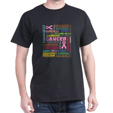 Breast Cancer Awareness Collage Dark T-Shirt