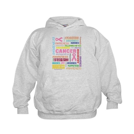 Breast Cancer Awareness Collage Kids Hoodie