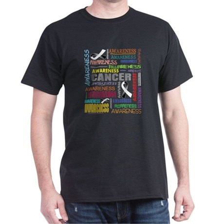 Carcinoid Cancer Awareness Collage Dark T-Shirt