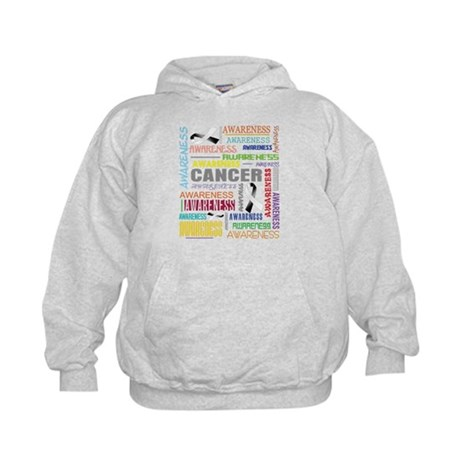 Carcinoid Cancer Awareness Collage Kids Hoodie