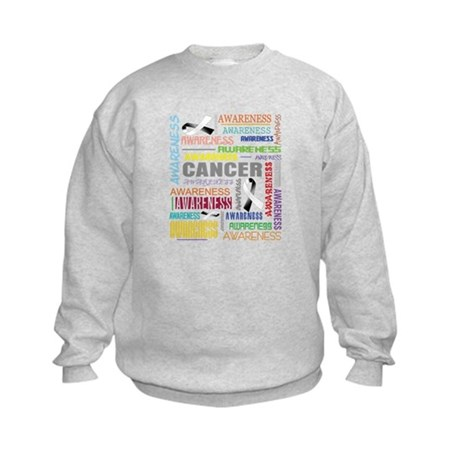 Carcinoid Cancer Awareness Collage Kids Sweatshirt