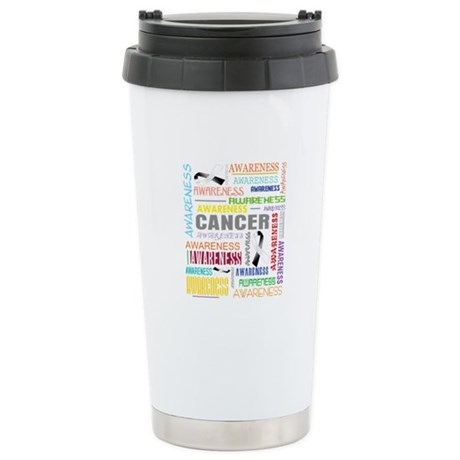 Carcinoid Cancer Awareness Collage Ceramic Travel
