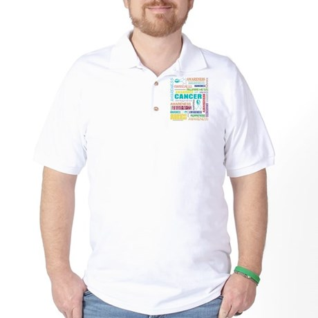 Cervical Cancer Awareness Collage Golf Shirt