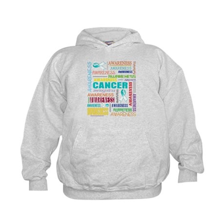 Cervical Cancer Awareness Collage Kids Hoodie