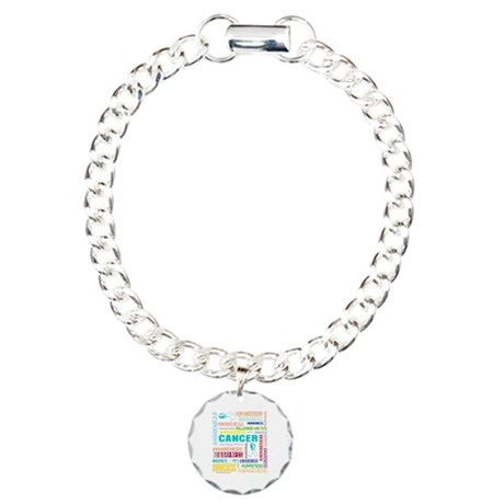 Cervical Cancer Awareness Collage Charm Bracelet,