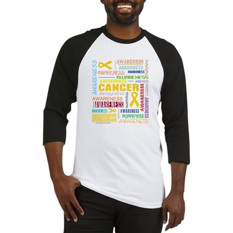 Childhood Cancer Awareness Collage Baseball Jersey