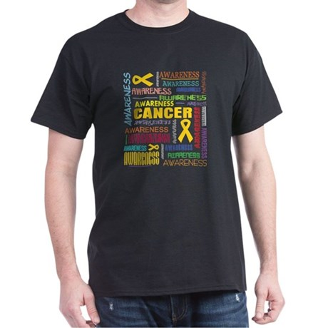Childhood Cancer Awareness Collage Dark T-Shirt