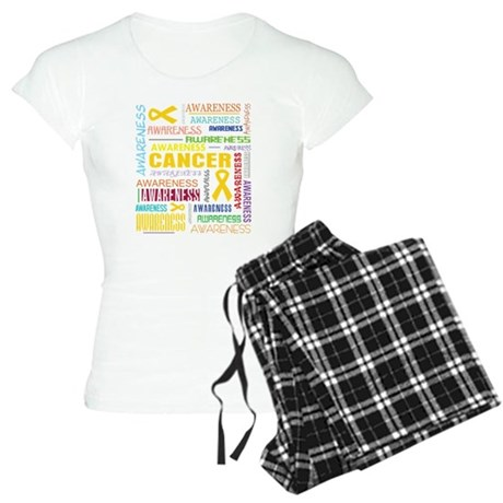 Childhood Cancer Awareness Collage Women's Light P