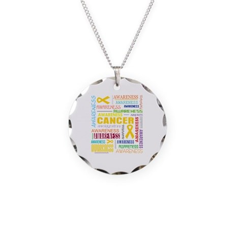 Childhood Cancer Awareness Collage Necklace Circle