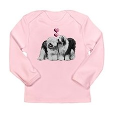 Ole English Sheepdog Pair Long Sleeve Infant T-Shi
