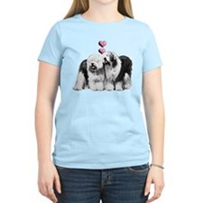 Ole English Sheepdog Pair T-Shirt