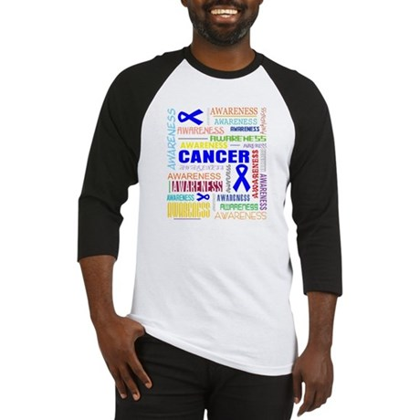 Colon Cancer Awareness Collage Baseball Jersey