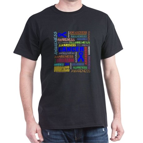 Colon Cancer Awareness Collage Dark T-Shirt